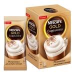 Кофе порционный Nescafe Gold Cappuccino, 8шт х 17г, растворимый, коробка