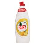 Средство для мытья посуды Fairy 650мл, лимон, гель, пена-эффект