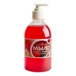 Жидкое мыло наливное Вкусная Косметика 500мл, клубника, с глицерином, с дозатором