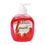 Жидкое мыло наливное Вкусная Косметика 250мл, клубника, с глицерином, с дозатором