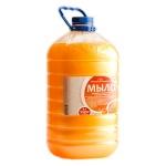 Жидкое мыло наливное Вкусная Косметика 5л, персик, с перламутром