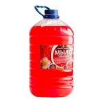 Жидкое мыло наливное Вкусная Косметика 5л, клубника, с глицерином