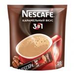 Кофе порционный Nescafe Карамель 3в1 20шт х 16г, растворимый, пакет