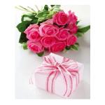 Пакет подарочный Подарок и Розы, 18x23x10 см