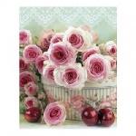 Пакет подарочный Розовые розы, 18x23x10 см