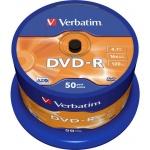 Диск DVD-R Verbatim 4.7Gb, 16х, Cake Box, 50шт
