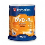 Диск DVD-R Verbatim 4.7Gb, 16х, Cake Box, 100шт