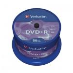 Диск DVD+R Verbatim 4.7Gb, 16х, Cake Box, 50шт