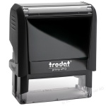 Оснастка для прямоугольной печати Trodat Printy 58х22мм, черная, 4913