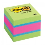 Блок для записей с клейким краем Post-It Classic 5 цветов, неон, 51х51мм, 400 листов, 2051-SP/AU