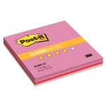 Блок для записей с клейким краем Post-It Classic, 4 цвета неон, 76х76мм, 100 листов, STRAW