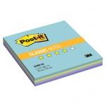 ���� ��� ������� � ������� ����� Post-It Classic, 4 ����� ����, 76�76��, 100 ������, AQUA