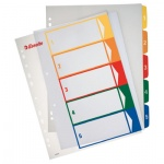 Цифровой разделитель листов Esselte Maxi 5 разделов, А4+, 100211