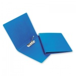 Папка пластиковая с зажимом Bantex Дания-Россия, А4, 1.9мм, синяя
