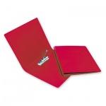 Пластиковая папка с зажимом Bantex Дания-Россия красная, А4, 3301-09
