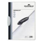 Пластиковая папка с клипом Durable Swingclip, А4, до 30 листов, белая