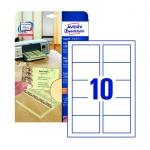 Визитные карточки Avery Zweckform Quick&Clean C32095-10, бежевые, 85х54мм, 220г/м2, 10шт на листе А4, 10 листов, 100шт, для копир/ цветной лазерной печати