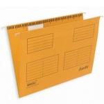 Папка подвесная стандартная А4 Bantex, 25 шт/уп, желтая