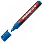 Маркер перманентный Edding 300 синий, 1.5-3мм, круглый наконечник, универсальный, заправляемый
