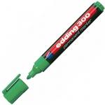 Маркер перманентный Edding 300 зеленый, 1.5-3мм, круглый наконечник, универсальный, заправляемый