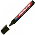 Маркер перманентный Edding 330, 1-5мм, скошенный наконечник, универсальный, заправляемый, черный