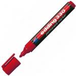 Маркер перманентный Edding 330, 1-5мм, скошенный наконечник, универсальный, заправляемый, красный
