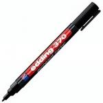 Маркер перманентный Edding 370 черный, 1мм, круглый наконечник, универсальный, заправляемый