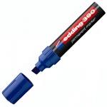 Маркер перманентный Edding 390 синий, 4-12мм, скошенный наконечник, универсальный, заправляемый