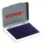 Штемпельная настольная подушка Kores 70х110мм, фиолетовая, краска на водной основе, металли