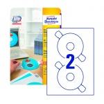 �������� ��� CD/DVD Avery Zweckform L6015-25, �����, d=117��, 2�� �� ����� �4, 25 ������, 50��, ��� ���� ����� ������
