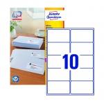 Этикетки адресные Avery Zweckform QuickPeel L7173-100, белые, 99.1х57мм, 10шт на листе А4, 100 листов, 1000шт, для всех видов печати