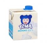 Молоко Тема 3.2%, 500мл, ультрапастеризованное, детское