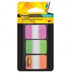 Клейкие закладки пластиковые Post-It Professional 3 цвета, 25х38мм, 3х22 листа, в диспенсере, 686-PG