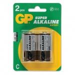 Батарейка Gp Super Alkaline C/LR14, 1.5В, алкалиновые, 2шт/уп