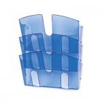Лоток навесной для бумаг Uniplast 3 отделения, А4, 290x215x32мм, синий