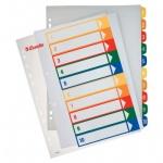 Цифровой разделитель листов Esselte Maxi, А4+, 10 разделов