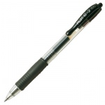 Ручка гелевая автоматическая Pilot BL-G2 черная, 0.3мм