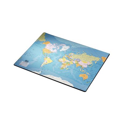 Коврик настольный для письма Esselte Europost 32184, 54х41см, карта мира