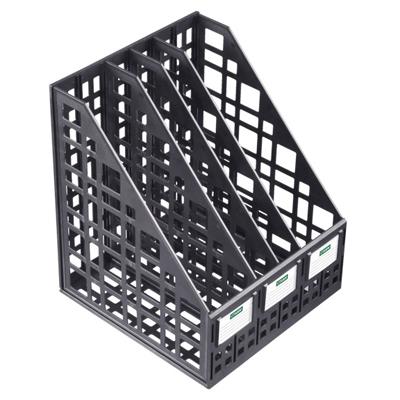 Многосекционный накопитель для бумаг Стамм ЛТ83, 240 мм, 4 секции, черный