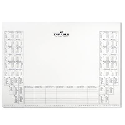 Блокнот-календарь Durable 729202 для коврика Durable 7291, 57х45см, 25 листов, 729202