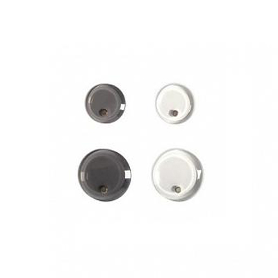Магниты для магнитной доски Bi-Office IM 266825, d=30-40мм, графит/прозрачные, 4шт/уп
