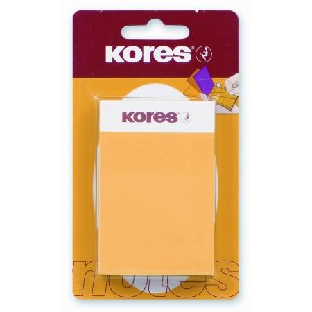 Блок для записей с клейким краем Kores, 50x75мм, 5 цветов 125 л