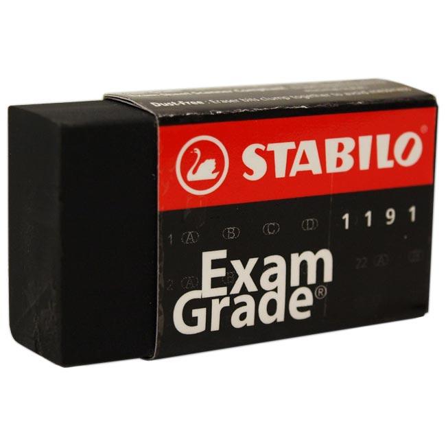 Ластик Stabilo Exam Grade, 40х22х11, черный