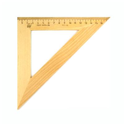 Угольник деревянный Можга, 16см, 45°/45°, С-16