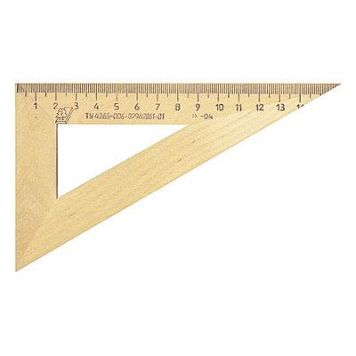 Угольник деревянный Можга С-139, 16см, 30°/60°