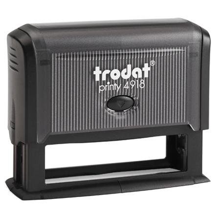 Оснастка для прямоугольной печати Trodat Printy 4918, 75х15мм, черная