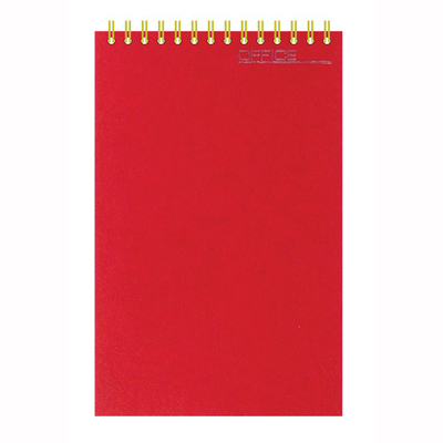 Блокнот Микровельвет, А5, 50 листов, в клетку, бордовый