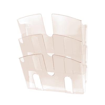 Лоток навесной для бумаг Attache, А4, 3 отделения, 290x215x32мм, дымчатый