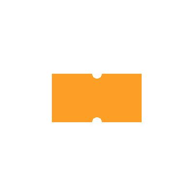 Этикет-лента с выемками 12х21,5 мм, оранжевый, 1000шт/рул, 10 рулонов