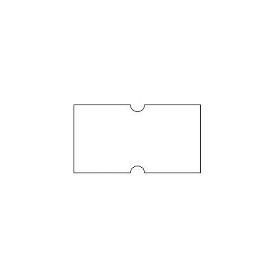Этикет-лента с выемками 12х21,5 мм, белый, 1000шт/рул, 10 рулонов